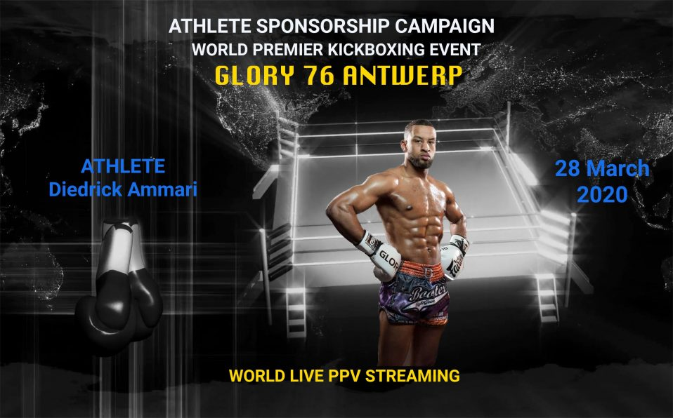 Diedrick Ammari Glory 76 event sponsorship campaign